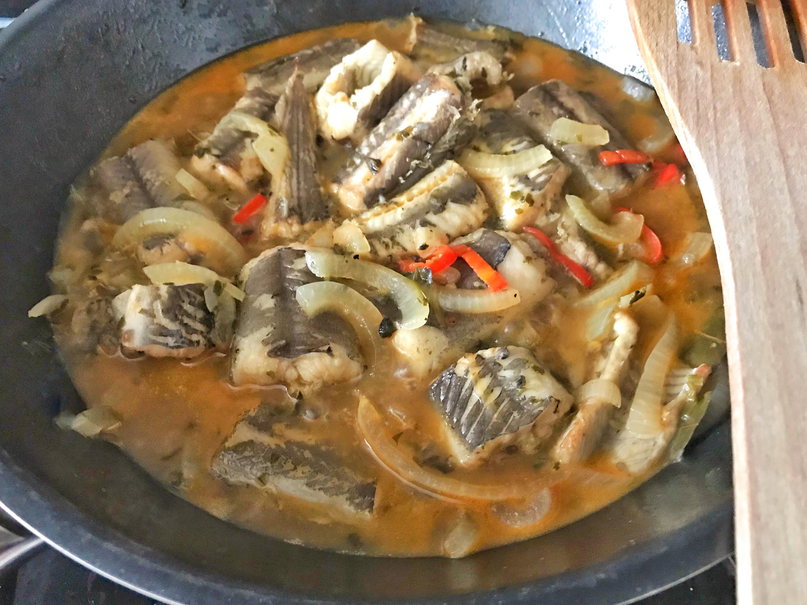 Paling in de wok